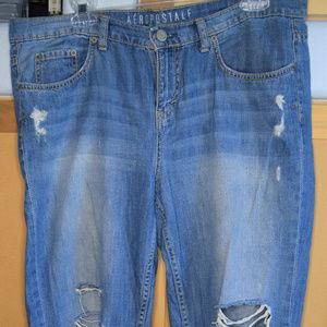 Aeropostale Ripped Boyfriend Jeans